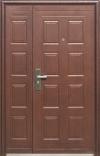 Двухстворчатая дверь в тамбур или частный дом модель D