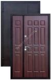 Дверь двустворчатая металлическая входная