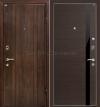 Двери МеталЮр. МеталЮр М6, венге кроскут - черный глянец